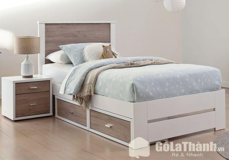 giường có tủ dưới gầm gỗ công nghiệp