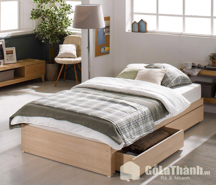 giường đơn 1m2 có ngăn kéo chứa đồ