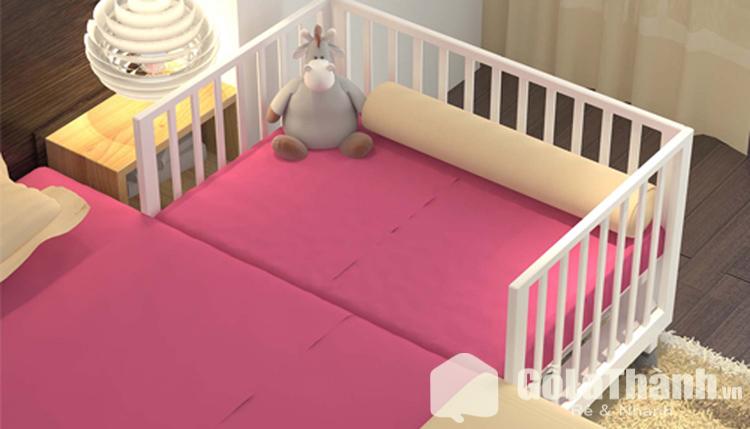 Giường cũi cho bé bằng gỗ