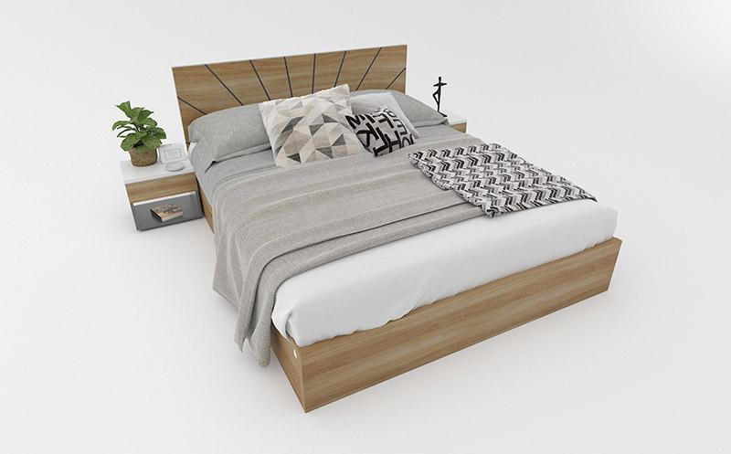 giường gỗ công nghiệp giá rẻ