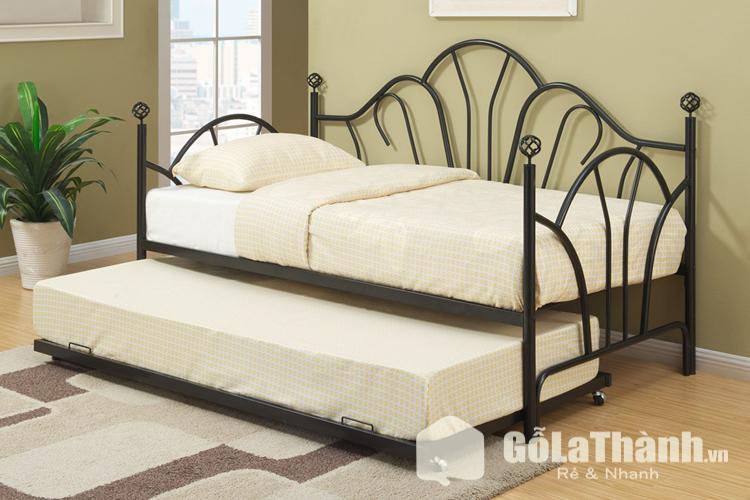 giường sắt thiết kế 2 tầng