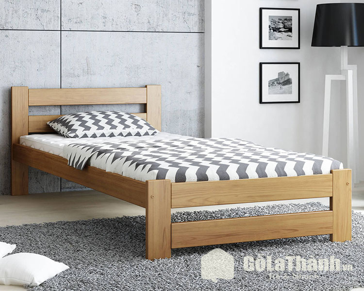 giường ngủ 1 người thiết kế chân cao