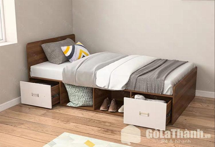 giường ngủ 1 người với ngăn chứa đồ bên dưới