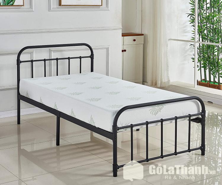 giường ngủ 1 người bằng sắt thiết kế đơn giản