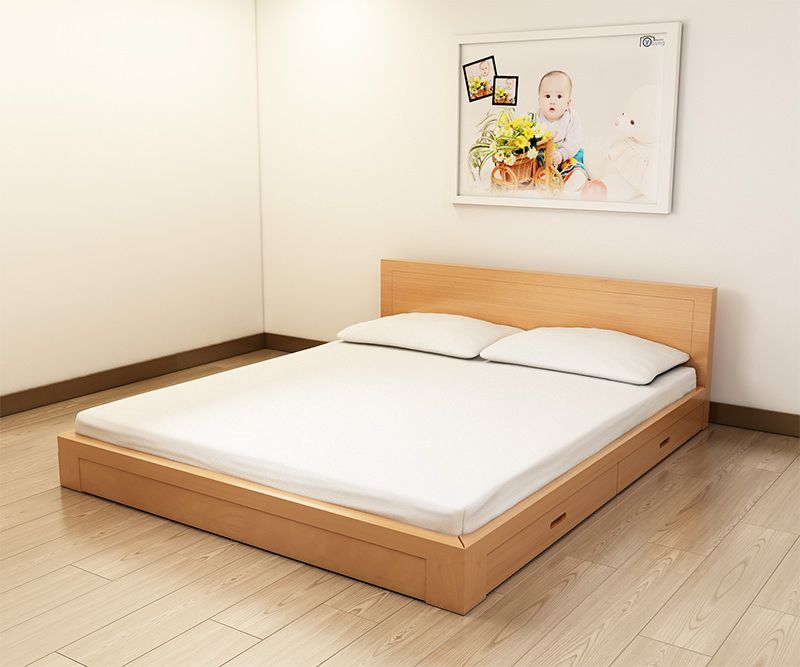 Giường ngủ giá rẻ gỗ