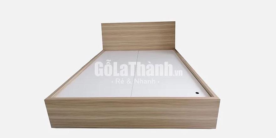 giường ngủ gỗ công nghiệp nâu nhạt
