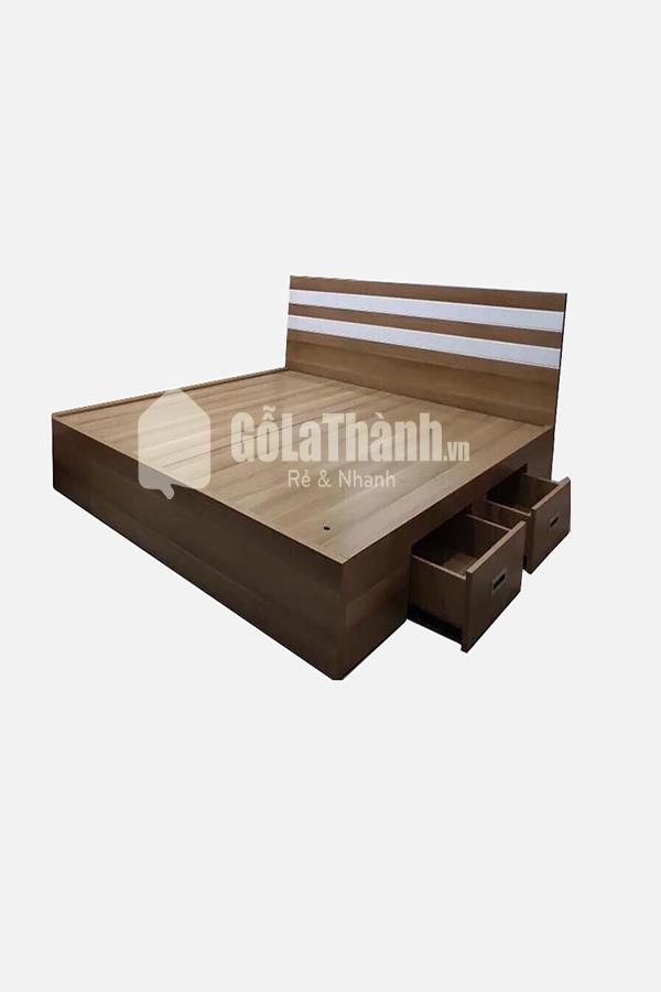 Giường ngủ MDF ván gỗ có ngăn kéo 1,6m GLT-133