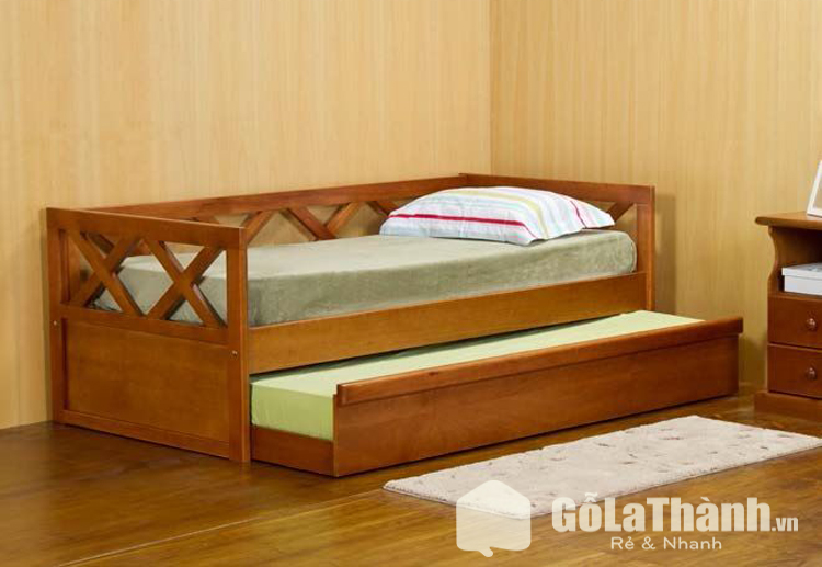 giường ngủ nhỏ gọn 2 tầng dạng khối hộp