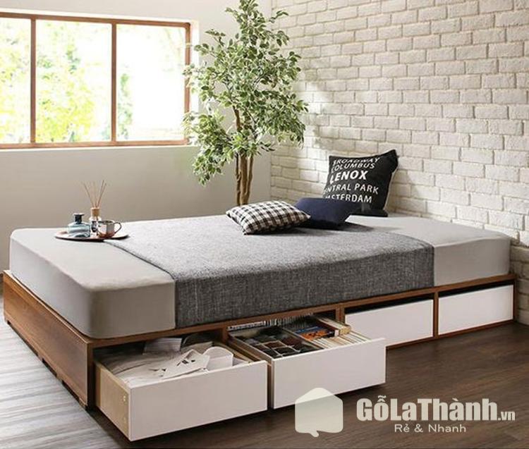 giường ngủ nhỏ gọn có ngăn kéo chứa đồ