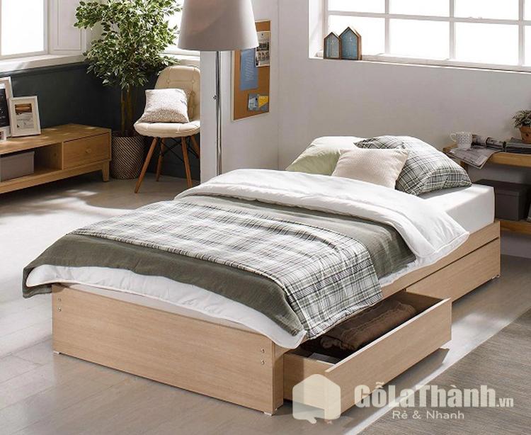 giường ngủ cận sàn có ngăn kéo chứa đồ