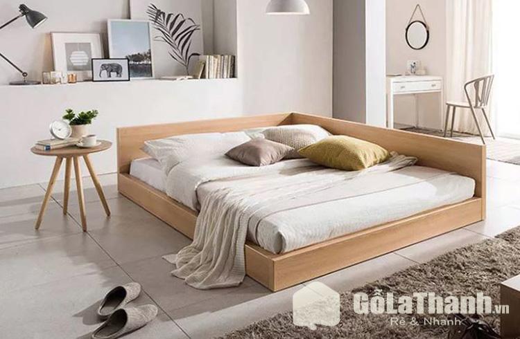 giường ngủ dạng khối 2 cạnh liền kề có thành chắn
