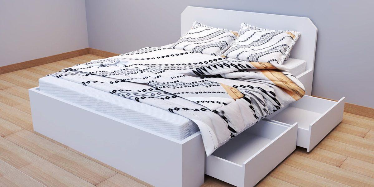 Giường ngủ trắng giá rẻ – điểm nhấn trang nhã cho phòng ngủ