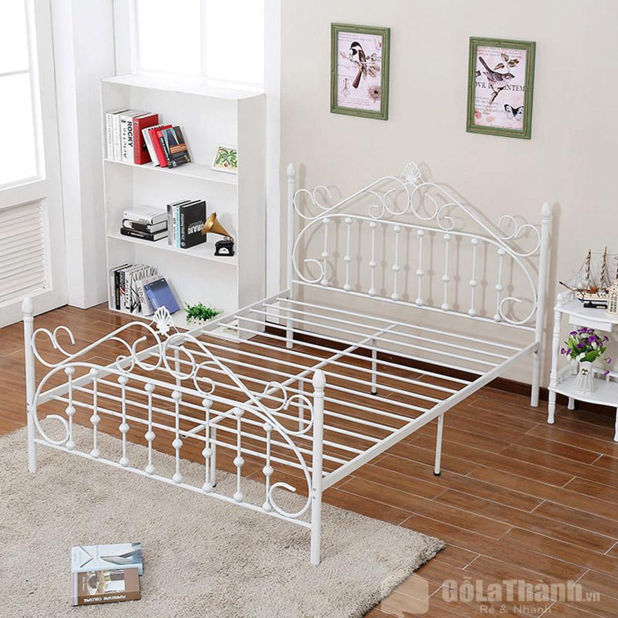 giường ngủ trắng giá rẻ