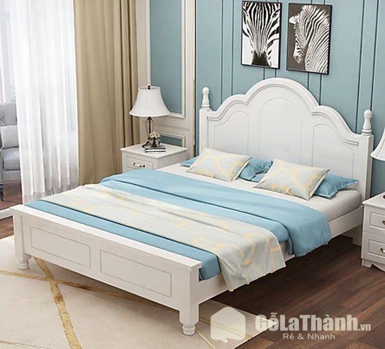 giường trắng đẹp thiết kế cổ điển