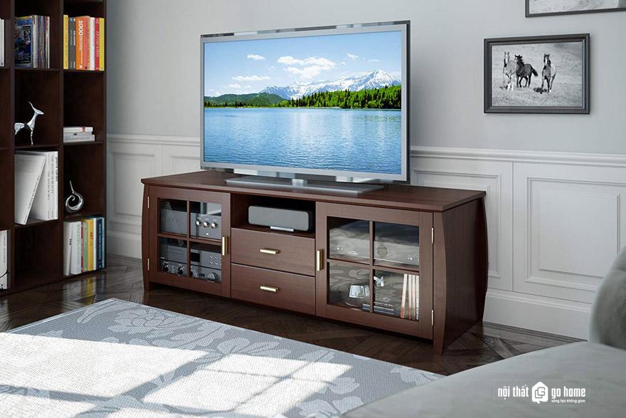Kệ tivi gỗ veneer là gì?