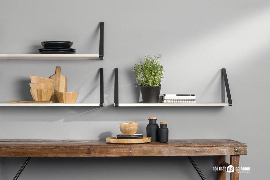 Cách trang trí kệ treo tường không cần khoan