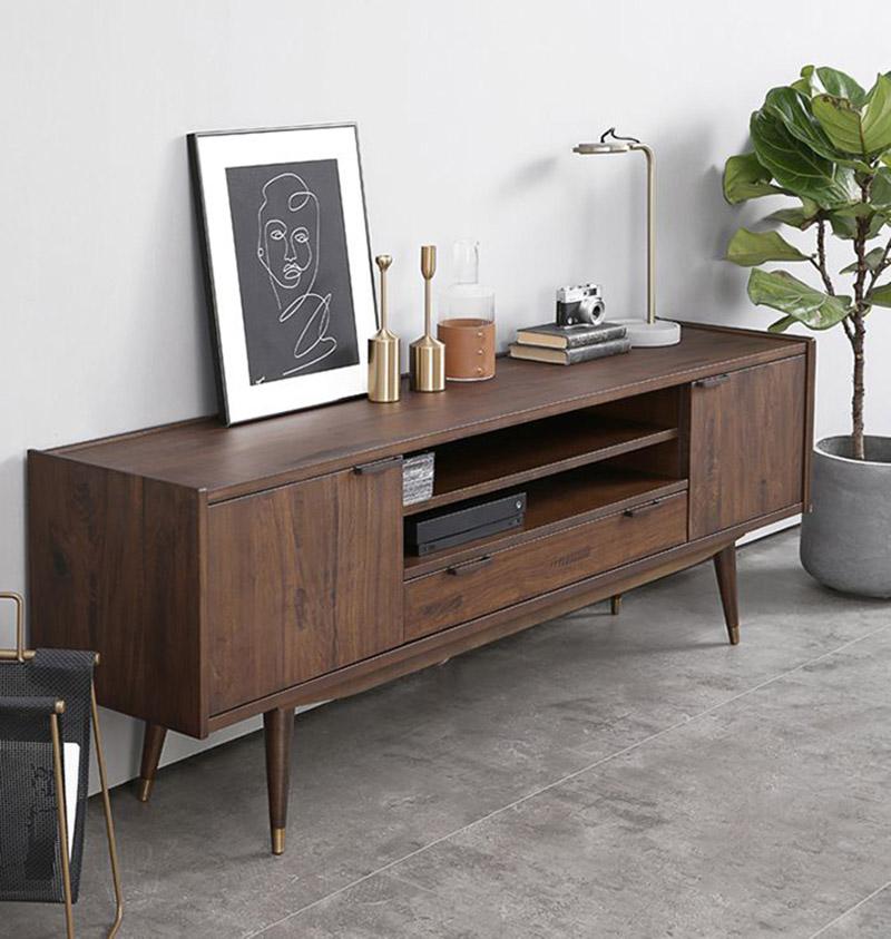 Lưu ý gì khi trang trí kệ để tivi bằng gỗ trong phòng khách?