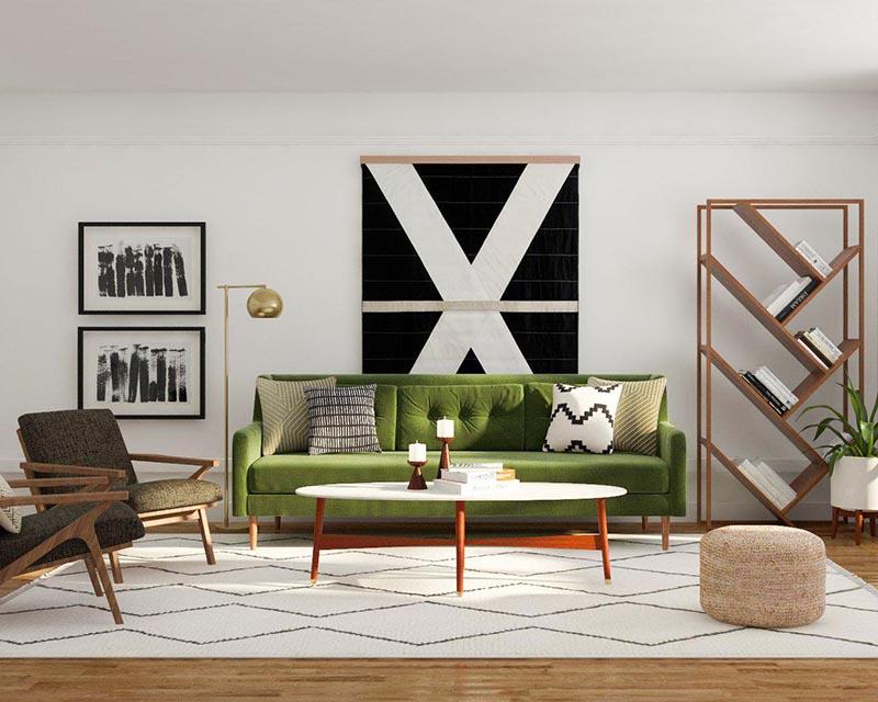 Lựa chọn mẫu kệ gỗ trang trí phòng khách cùng Nội Thất Go Home