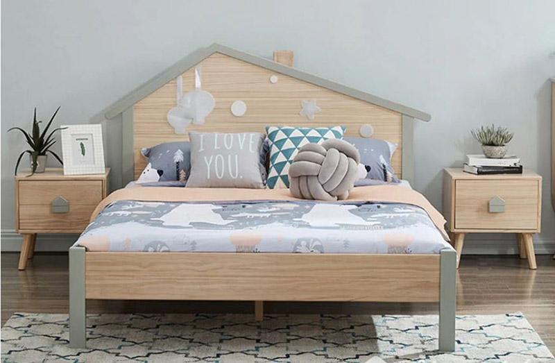 mẫu giường gỗ đẹp hiện đại
