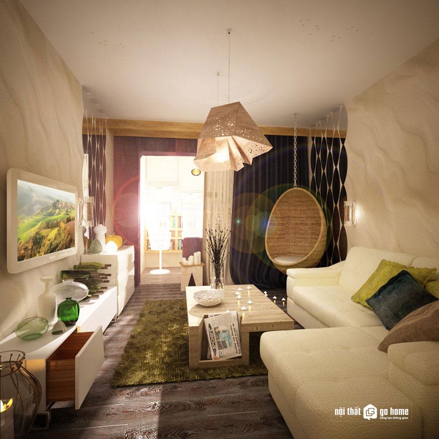 Nội thất phòng khách nhà ống đẹp 12