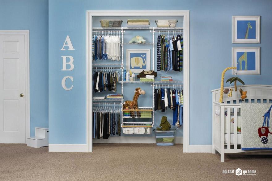 Cách sắp xếp tủ quần áo cho bé đơn giản mà gọn gàng