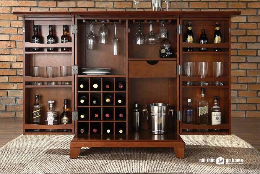 Lựa chọn tủ rượu phòng khách cần chú ý gì?