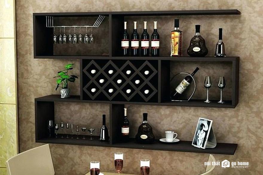 Nên chọn loại tủ rượu treo tường phòng khách nào đẹp nhất?