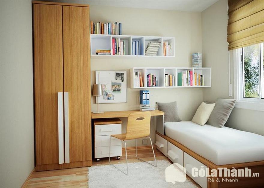 tủ đựng quần áo gỗ hướng đối diện cửa sổ