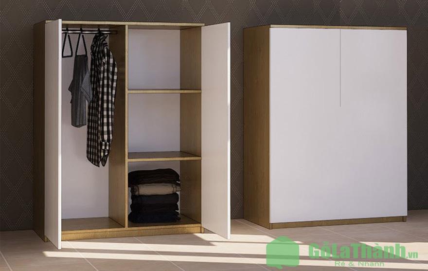 tủ cánh mở 4 ngăn gồm 1 ngăn đứng và 3 ngăn ngang