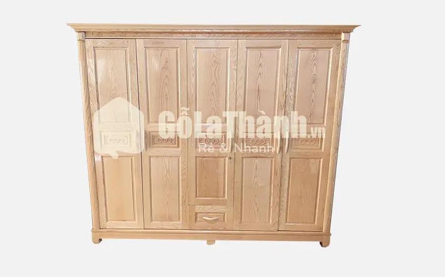 tủ quần áo gỗ tự nhiên 5 cánh