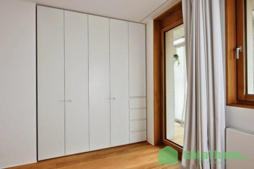 tủ âm tường màu trắng