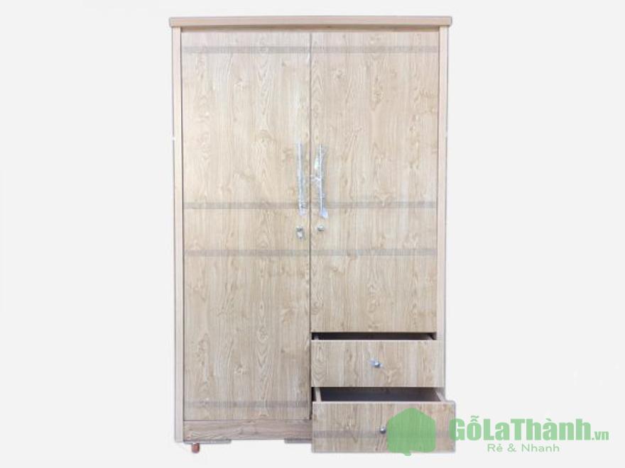 tủ quần áo gỗ nâu nhạt