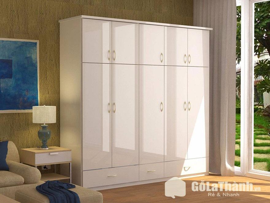tủ áo trắng nhiều cánh nhiều ngăn