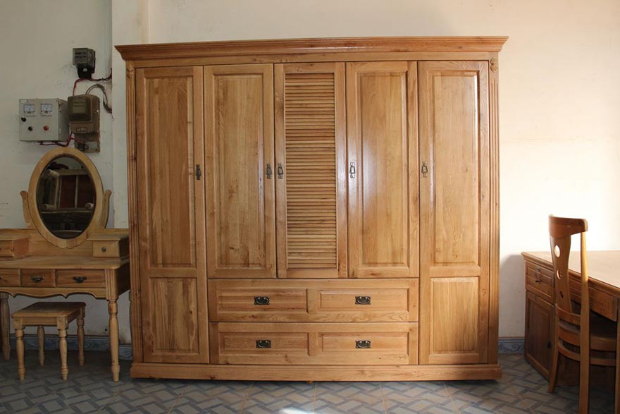 Bí quyết chọn mua tủ quần áo gỗ tự nhiên