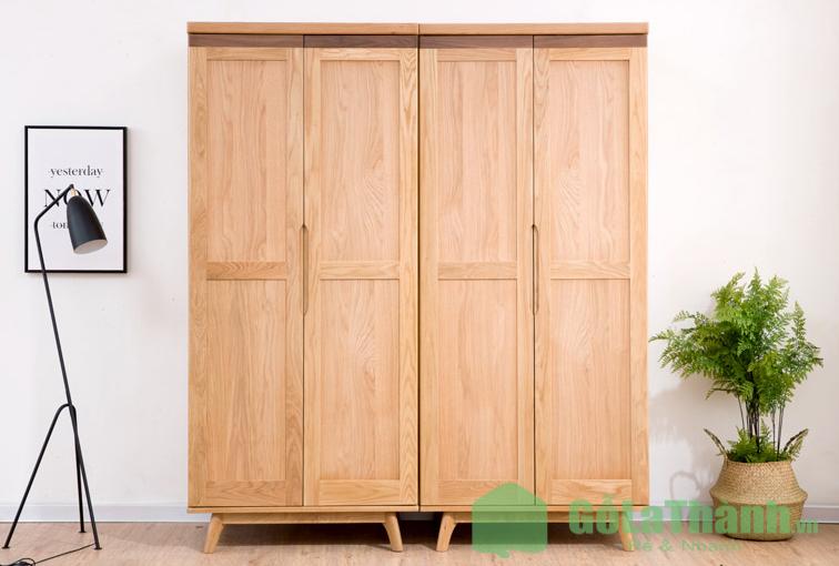 tủ quần áo gỗ tự nhiên giá rẻ hà nội