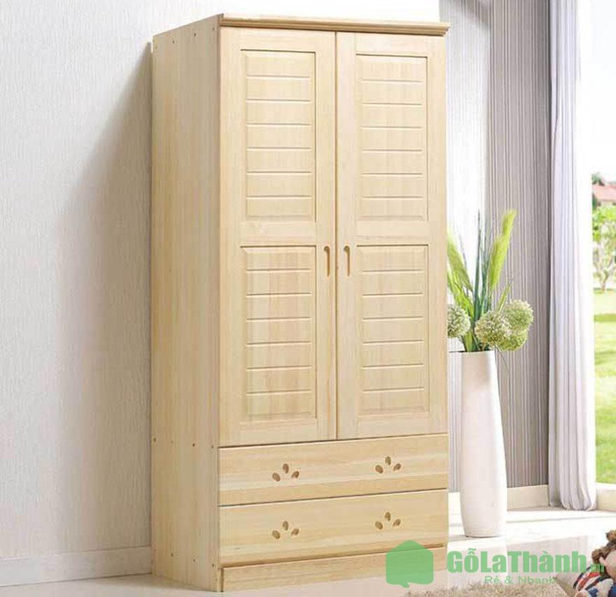 tủ gỗ cánh mở có 2 ngăn kéo