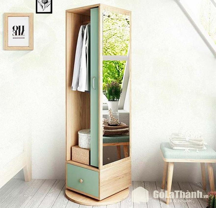 tủ mini thiết kế độc đáo một mặt gắn gương