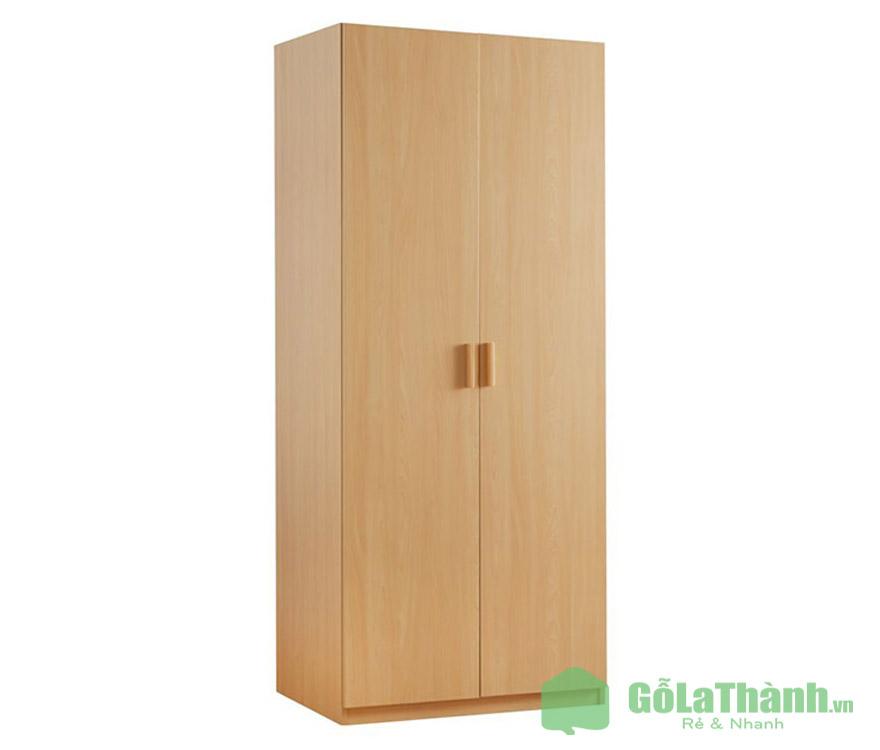 tủ áo gỗ 2 cánh mở đứng