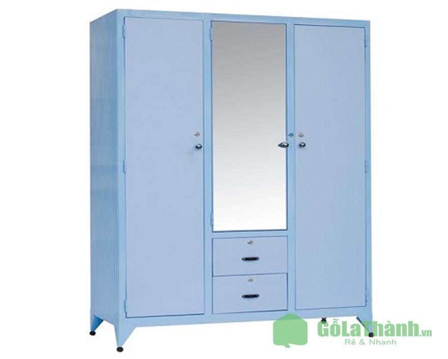tủ sắt đựng quần áo màu xanh dương