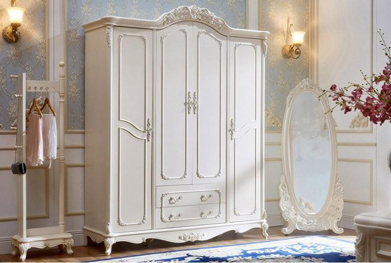 Tủ quần áo tân cổ điển cho không gian phòng ngủ sang trọng, đẳng cấp